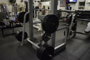 Weight lifting equipment at Matthew's Gym in Forest City, NC
