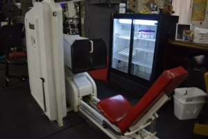 Leg press equipment at Matthew's Gym in Forest City, NC