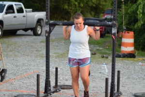 woman participating in lifting at a Big Lift Club at Matthew's Gym in Forest City, NC