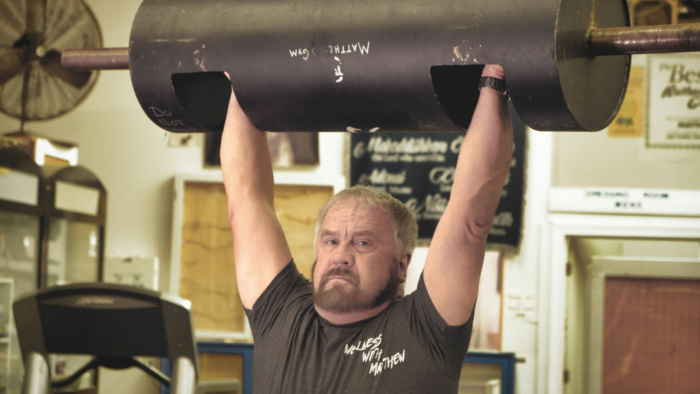 Roger Short heavy lifting at Matthew's Gym in Forest City, NC